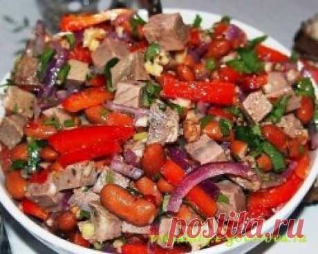 Мясной салат «Тбилиси»