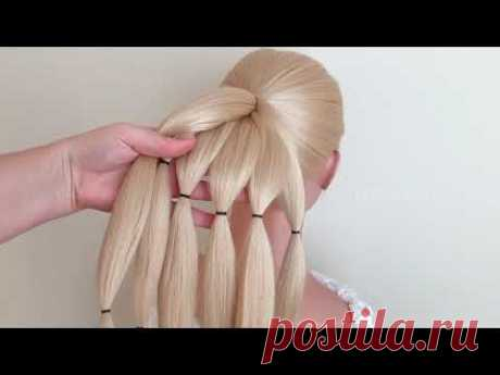 Быстрые #Прически на длинные волосы Messy bun trick. easy hairstyles