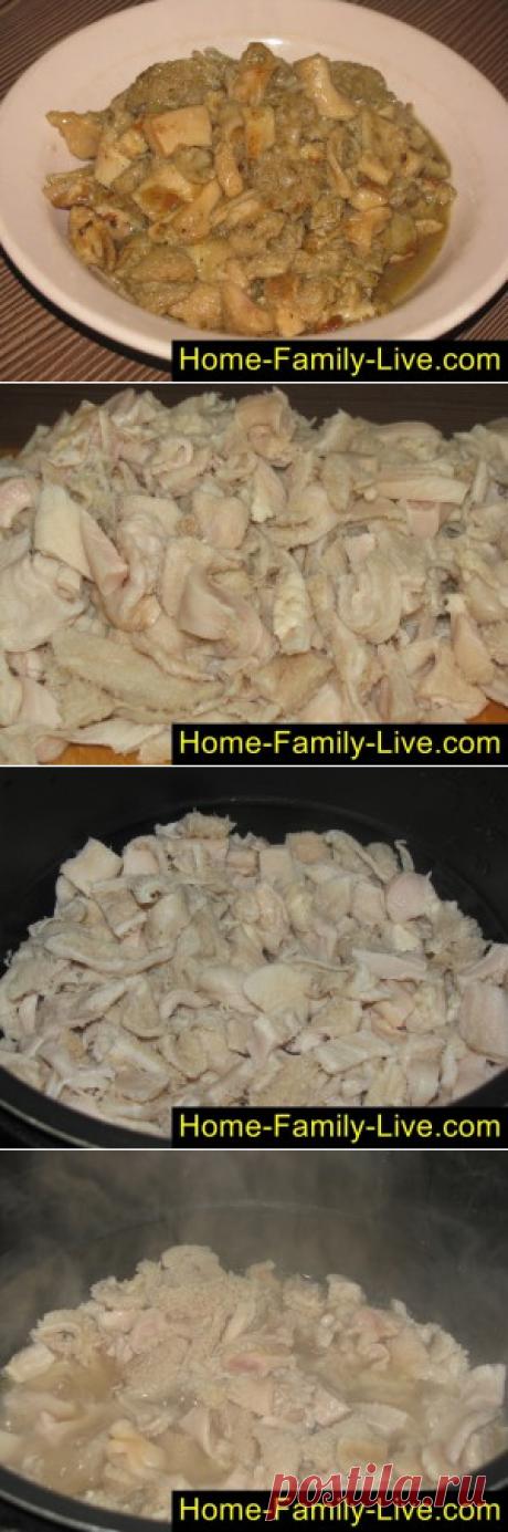 Рубец говяжий в мультиварке - пошаговый фоторецепт - очень вкусное блюКулинарные рецепты