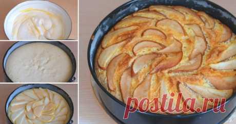Очень простой пирог с грушами