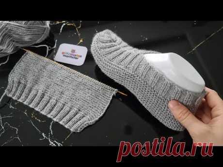 Научитесь вязать пинетки для мужчин и женщин; Как вязать туфли, Как вязать тапочки