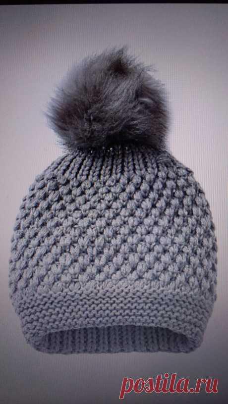 Очень нужна схема узораДевушки, подскажите, пожалуйста, узор шапочки   Узоры спицами . Вязание спицами.
