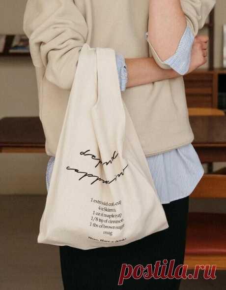 Шьем стильную и экологичную замену пластиковым пакетам + готовая выкройка сумки-пакета и инструкция пошива   Швейный омут   Яндекс Дзен