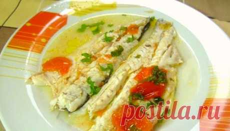 """Простые Рецепты : Морской Судак в соусе """"аква паца"""" итальянская кухня."""
