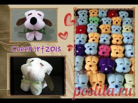 手工教學 - 毛巾小狗 DIY craft tutorial - Towel Puppy - YouTube