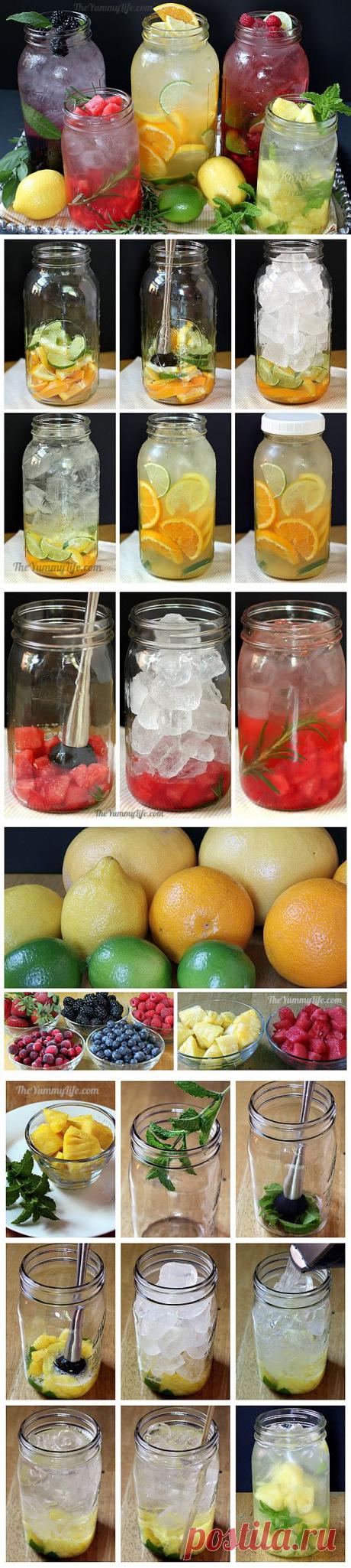 Рецепт Рецепты приготовления полезной и вкусной воды из фруктов и трав в домашних условиях