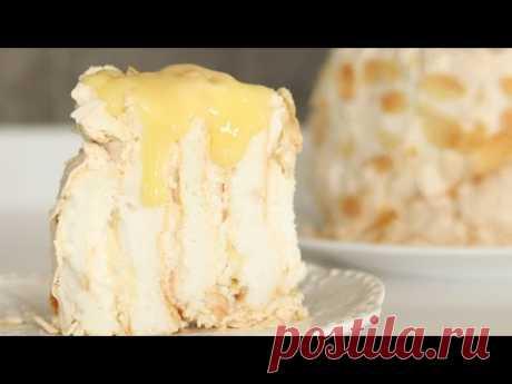 МЕРЕНГОВЫЙ ТОРТ с ЛИМОННЫМ КУРДОМ 🍋 простой рецепт воздушного торта 🍋 Lemon curd meringue cake
