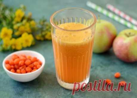 Яблочно-облепиховый сок