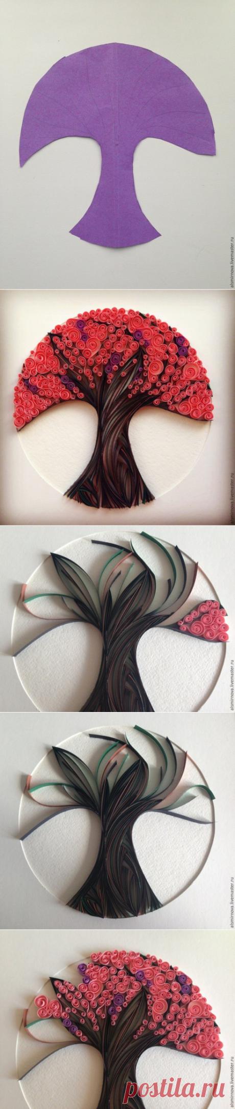 Декоративное панно в технике квиллинг — Сделай сам, идеи для творчества - DIY Ideas