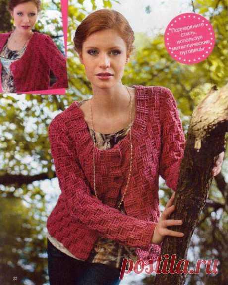 Jacket wattled pattern hook. Female jacket hook scheme and description |