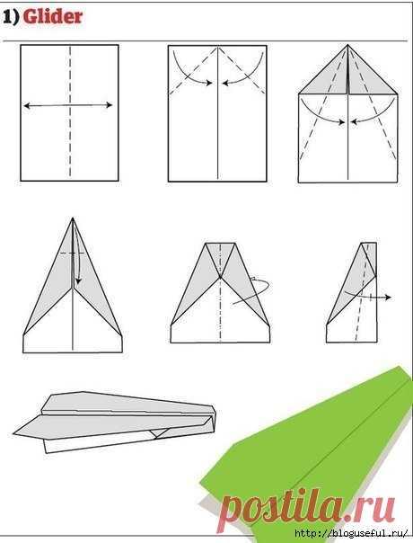 Сделать самолетик из бумаги своими руками