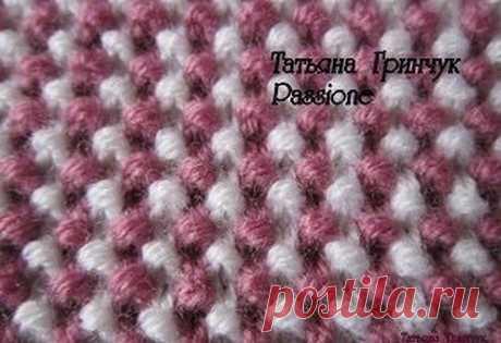 Вязание-спицы>Двухцветный узор