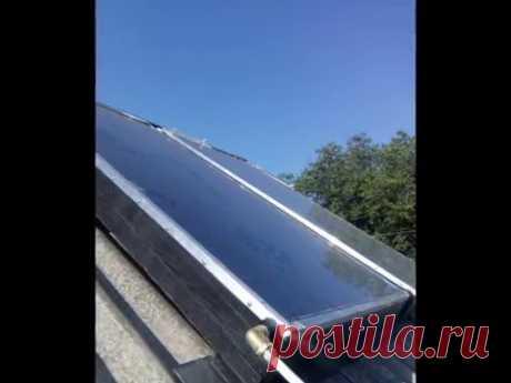 Как я сделал солнечный коллектор своими руками. How i made a solar collector by myself. - YouTube