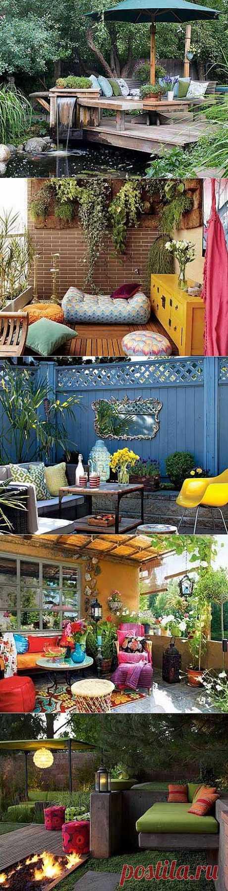 Дизайн сада своими руками: 10 ярких патио