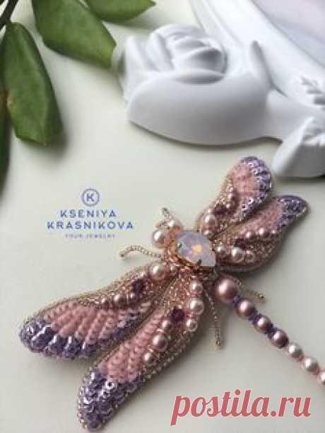 Брошь стрекоза Brooch dragonfly