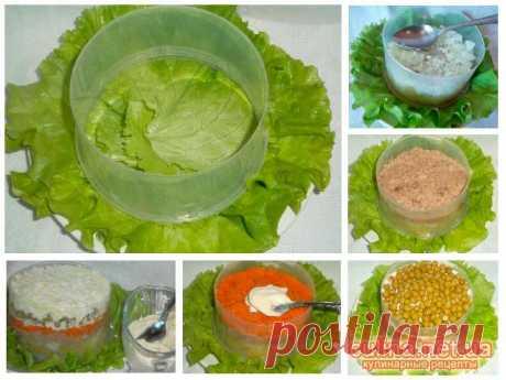 Как сделать формочку для красивой выкладки салатов    Если вы планируете удивить гостей оформлением ваших вкусных салатов, то тогда стоит сделать вот такую формочку для порционного салата. Изготовление формочки простое, а креативность подачи гости обя…