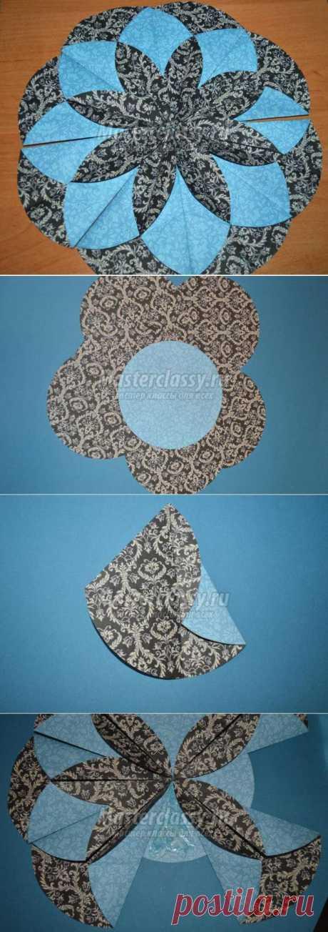 Оригами на Новый год. Салфетка «Снежинка». Мастер-класс с пошаговыми фото