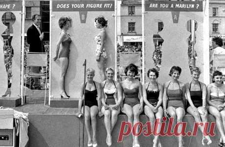 В 1958 году популярность Мэрилин Монро была настолько велика, что на пляжах в Англии проводились состязания, призванные выявить, кто из дам больше похож на легендарную блондинку. Фигуру и прически конкурсанток внимательно сравнивали с теми, что были у Монро. И девушки участвовали в таких состязаниях сотнями — так сильно было их желание хоть немного приблизиться к своему кумиру. Возможно, немалую роль в этом сыграли и мужчины, ведь в те времена они не могли представить кого-то более эффектного…