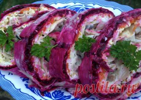 Рулет из лаваша «Селёдка под шубой» - Кулинарный блог