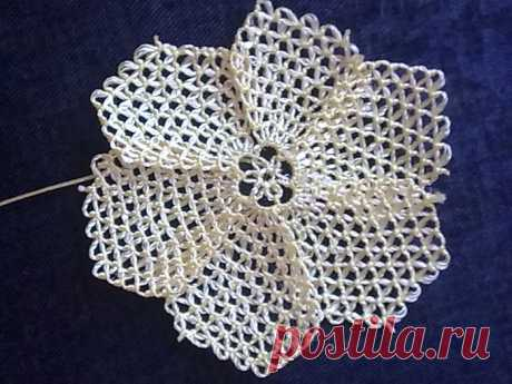 El encaje turco de Oyya. MK. (La lección 9). El collar.