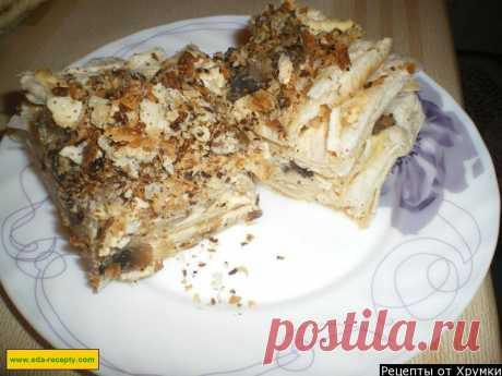 Закусочный торт наполеон с шампиньонами рецепт с фото пошагово - 1000.menu