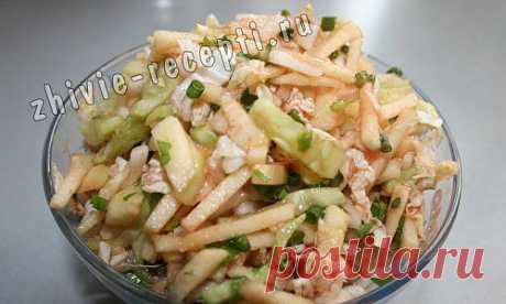 Сочный салат из китайской капусты с яблоками и огурцами. | Живые рецепты, сыроедение, здоровье, продукты без тепловой обработки, польза сыроедения