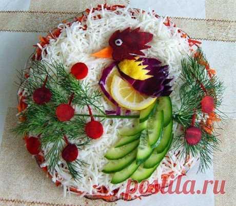 Праздничное оформление салатов
