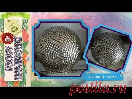 Como hacer Esfera Gigante Decorativa Reciclando