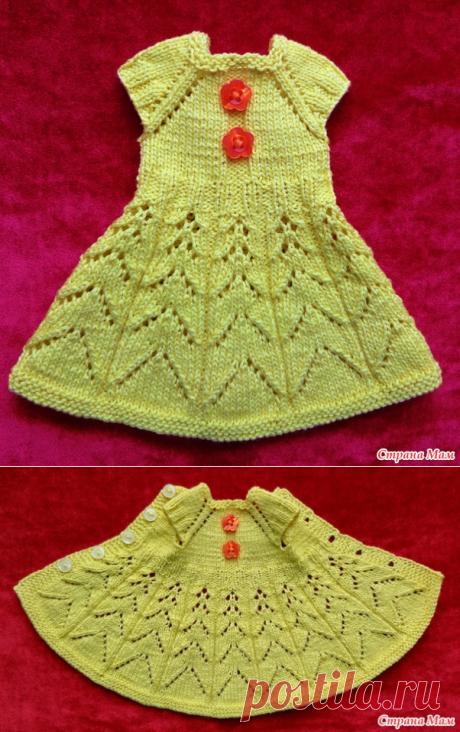 Платье спицами для Paola Reina - Гардероб для куклы - Страна Мам