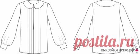 Как сшить блузку с рукавом епископа   Выкройки онлайн и уроки моделирования