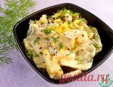 Салат с соленым огурцом и яйцом – кулинарный рецепт