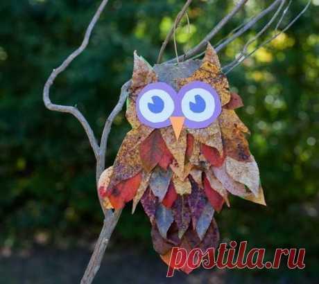 ПОДЕЛКИ Совы из листьев Осень – замечательная пора для прогулок с ребенком. Летний зной больше не вынуждает прятаться в тени деревьев и искать прохладные местечки, а прогулки по паркам становятся не только полезными, но и чрезвычайно увлекательными. Любуясь красотами осенней природы вы с малышом можете совместить приятное с полезным – и подышать свежим воздухом, и собрать разнообразные природные материалы для поделок. Сухие листья – отличный материал для всевозможных гербариев и аппликаций.…