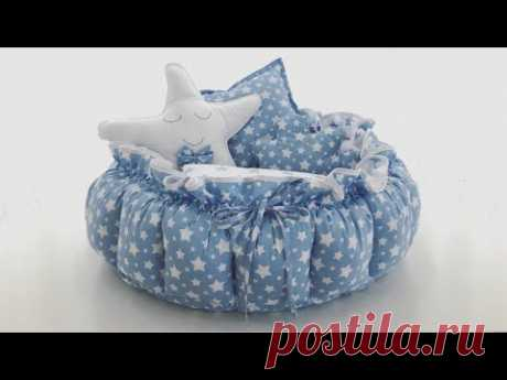 Babynest Yuvarlak Portatif Bebek Yatağı Dikim Videosu | Babynest Round Baby Bed Making Video