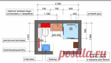 Как разместить все в типовом санузле: 3 удачные планировки - Квартира, дом, дача - медиаплатформа МирТесен