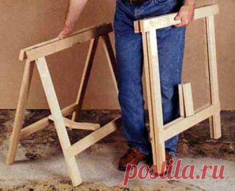 Идеи домашнего мастера  » Архив  Строительные козлы | Идеи домашнего мастера