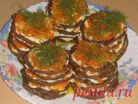 Мини-тортики из печени  / Умная готовка