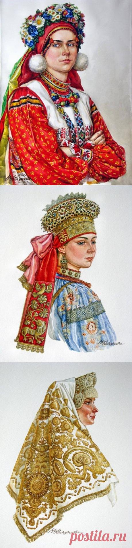 """Традиционный костюм """"Русский север"""" Художник М.Федорова."""