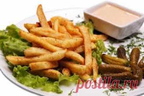 Картофель фри в духовке.   vkusnyymir