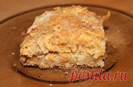 Самый простой в мире яблочный пирог без яиц