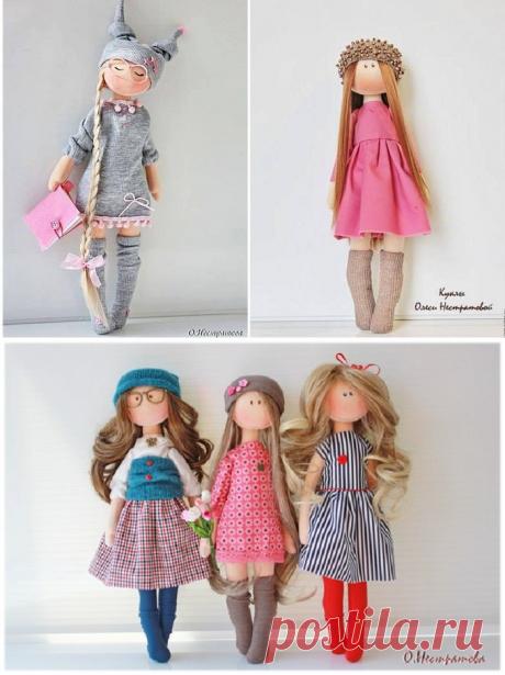 Интерьерные куколки-очаровашки (+выкройка) — Рукоделие