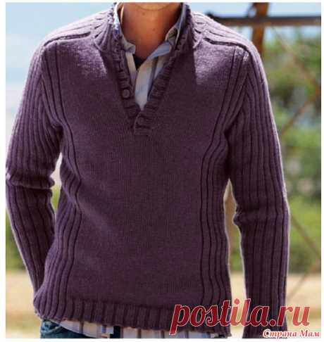 Cardigan for the son. - Knitting - the Country of Mothers