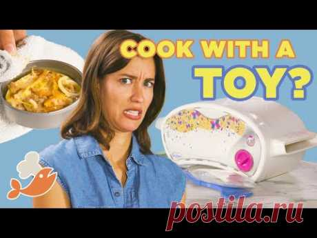 Can This Chef Make A 3-Course Meal With An Easy Bake Oven? • Tasty