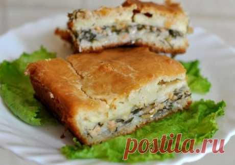 Пирог с рыбными консервами и картофелем на кефире - домашний рецепт с фото