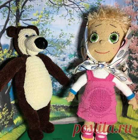 Мягкая игрушка Маша и Медведь, ручная работа, купить недорого!Плюшевый мир Мастерская игрушек Анны Ганоцкой