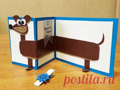 Красивые открытки на Новый год собаки 2018: прикольные фото и картинки - идеи!
