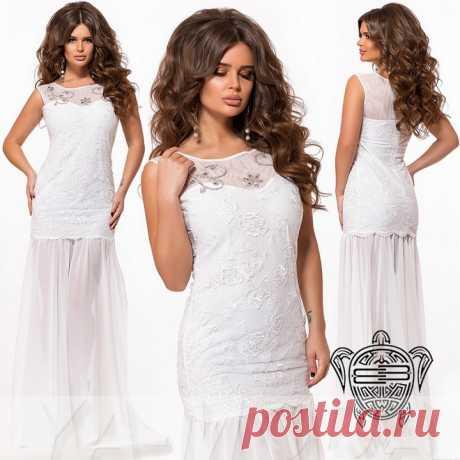 Твоя свадьба! 5 недорогих длинных платьев на роспись