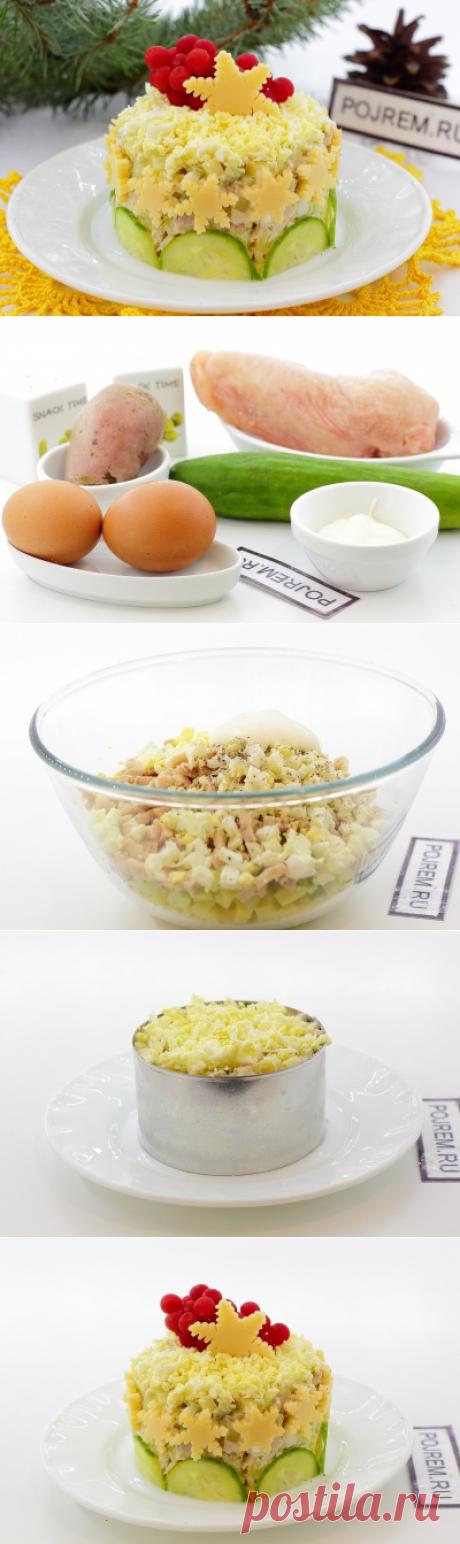 Салаты к 8 марта. Праздничный салат с курицей - Антрекот - большая кулинарная книга