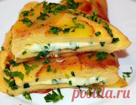 Беру 4 картошки, 4 яйца и вкусный завтрак или обед готов. Оригинально, быстро и вкусно!