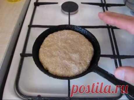 ¡El pan sin levadura - la receta simple!