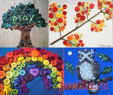Button art for children and adult (Button Art)